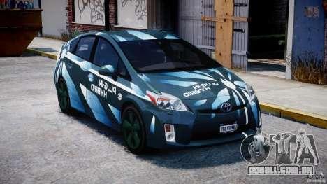 Toyota Prius 2011 PHEV Concept para GTA 4 vista de volta