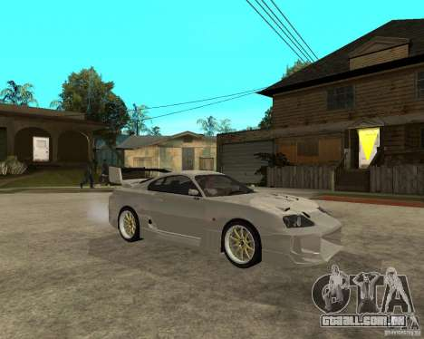 Toyota Supra M4K para GTA San Andreas vista direita