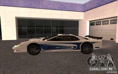 O novo Turismo para GTA San Andreas esquerda vista