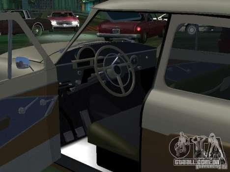 Táxi de gás M21T para GTA San Andreas vista superior