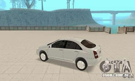 Nissan Primera para GTA San Andreas vista traseira