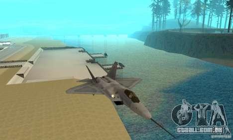 YF-22 Grey para GTA San Andreas vista traseira