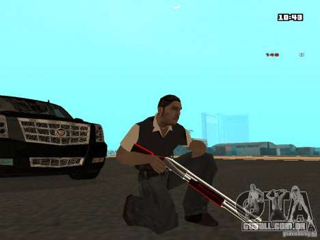 White Red Gun para GTA San Andreas terceira tela
