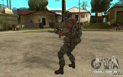 Bandeira das forças especiais para GTA San Andreas por diante tela