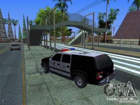 Chevrolet Suburban Los Angeles Police para GTA San Andreas esquerda vista