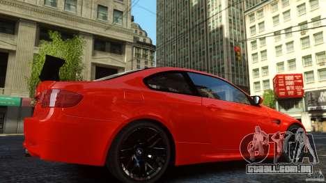 BMW M3 GTS Final para GTA 4 traseira esquerda vista