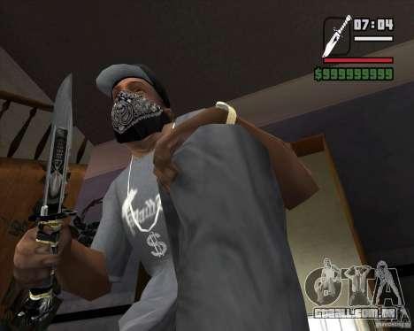 A faca de n º 5 do perseguidor para GTA San Andreas segunda tela