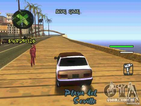 HUD Convenient and easy BETA para GTA San Andreas terceira tela