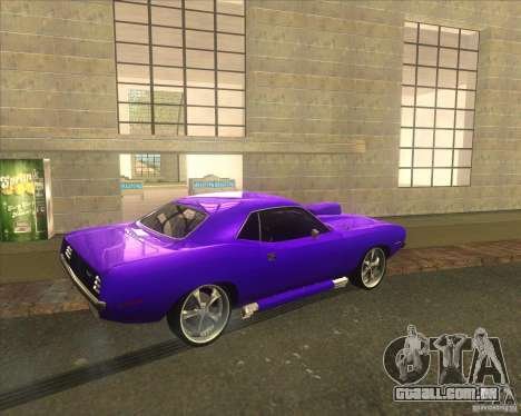 Plymouth Barracuda para vista lateral GTA San Andreas