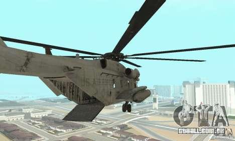 Sikorsky MH-53 para GTA San Andreas traseira esquerda vista