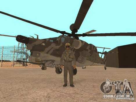 MI 28 Havok para GTA San Andreas vista superior