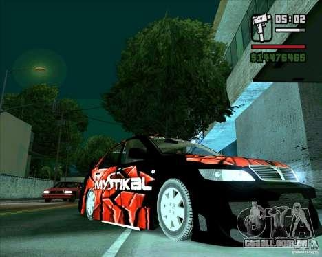 Mitsubishi Lancer E.S para GTA San Andreas traseira esquerda vista