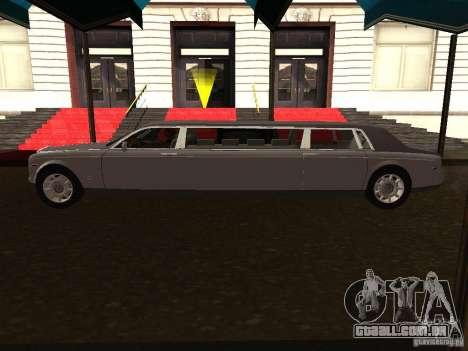 Rolls-Royce Phantom Limousine 2003 para GTA San Andreas esquerda vista
