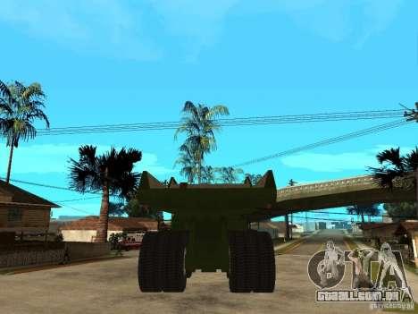 Belaz para GTA San Andreas traseira esquerda vista
