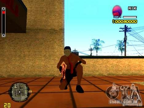 Homem de pele praia para GTA San Andreas quinto tela
