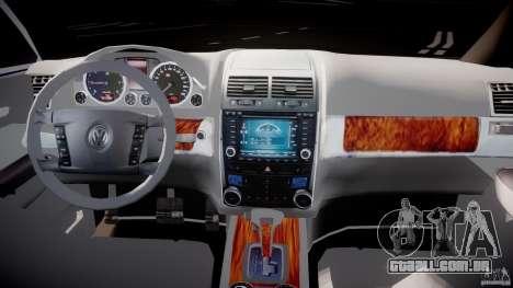 Volkswagen Touareg 2008 TDI para GTA 4 vista de volta