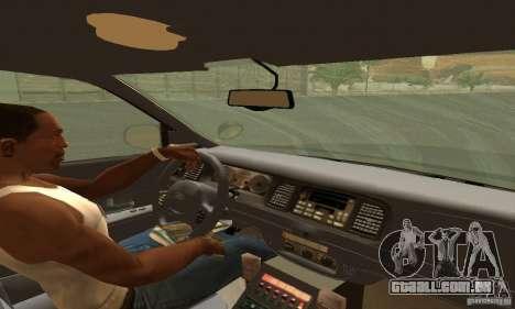 Ford Crown Victoria Tennessee Police para GTA San Andreas traseira esquerda vista