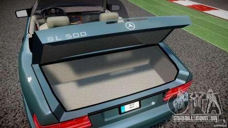 Mercedes-Benz SL500 para GTA 4 vista de volta