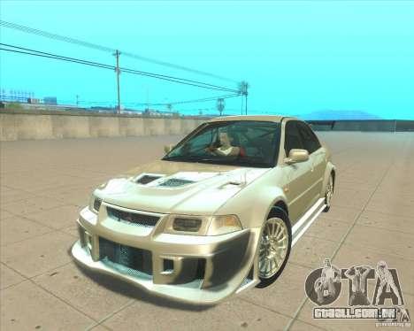 Mitsubishi Lancer Evolution VI 1999 Tunable para GTA San Andreas vista interior