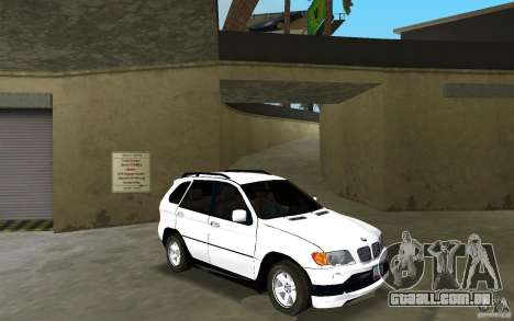 BMW X5 para GTA Vice City vista traseira