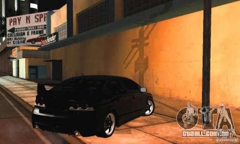 Honda Civic JDM para GTA San Andreas vista interior