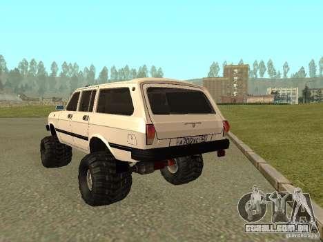 Volga 31022 gás 4 x 4 para GTA San Andreas vista direita