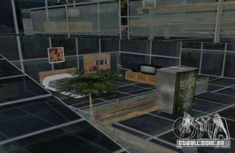 Chalé de dois andares para GTA San Andreas por diante tela