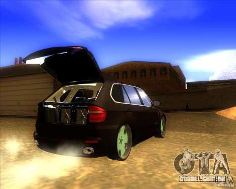 BMW X5 dubstore para GTA San Andreas vista interior