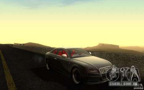 Audi S5 Black Edition para vista lateral GTA San Andreas