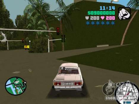 ZAZ 968 para GTA Vice City deixou vista