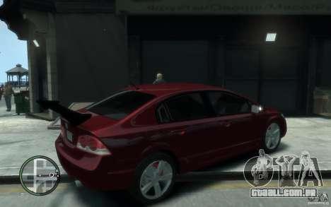 Honda Civic 2006 para GTA 4 vista direita