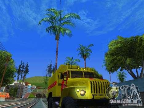 Ural 4320 GORSVET para GTA San Andreas vista traseira