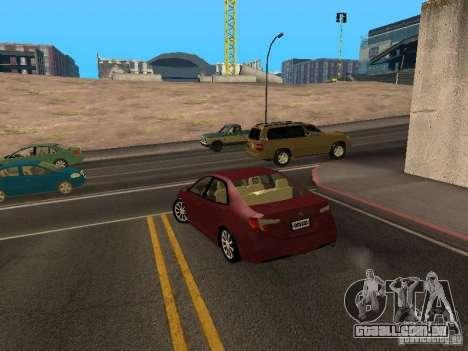 Toyota Camry 2013 para GTA San Andreas traseira esquerda vista