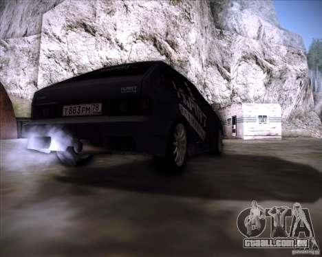 VAZ 2108 K-arte para GTA San Andreas traseira esquerda vista