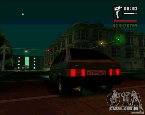 VAZ 2109 05 Final para GTA San Andreas esquerda vista