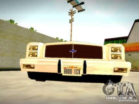 Chevrolet El Camino 1976 para GTA San Andreas vista traseira