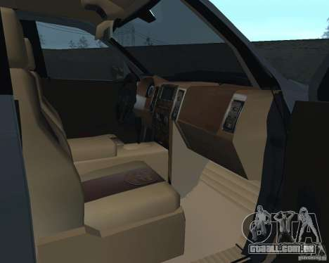Dodge Ram Hemi para GTA San Andreas vista traseira