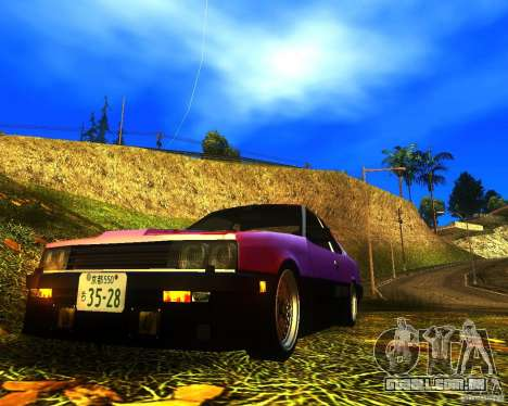 Nissan Skyline RS TURBO (R30) para GTA San Andreas traseira esquerda vista