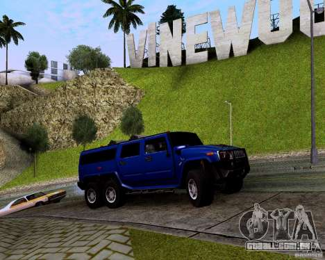 Hummer H6 para GTA San Andreas vista traseira