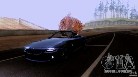 BMW Z4 V10 para GTA San Andreas vista superior