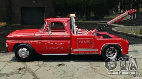 Chevrolet C20 Towtruck 1966 para GTA 4 esquerda vista