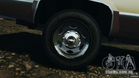 Chevrolet Silverado 1986 para GTA 4 vista lateral