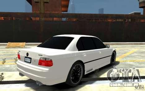 BMW 750i E38 HAMANN para GTA 4 vista direita