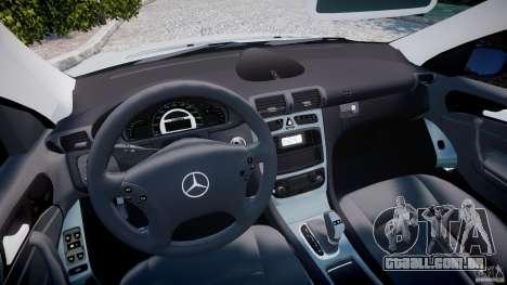 Mercedes-Benz C32 AMG 2004 para GTA 4 vista de volta