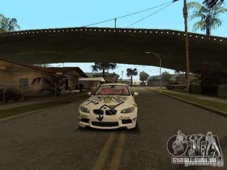 BMW M3 E92 Grip King para GTA San Andreas vista interior