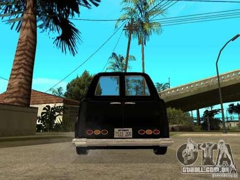 GTA IV TLAD para GTA San Andreas traseira esquerda vista