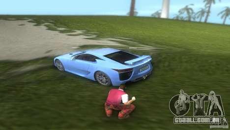 Lexus LFA para GTA Vice City vista traseira esquerda