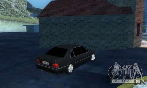 Mercedes-Benz W140 S600 Long Deputat Style para GTA San Andreas vista direita