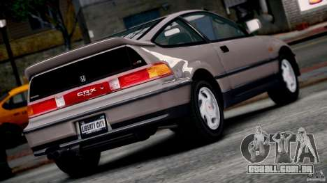 Honda CR-X SiR 1991 para GTA 4 esquerda vista