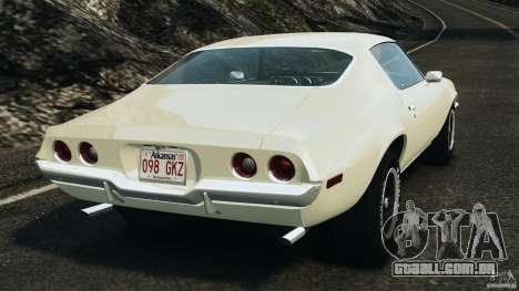 Chevrolet Camaro 1970 v1.0 para GTA 4 traseira esquerda vista